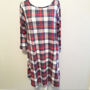 Honey and Lace Plaid Brea Dress M
